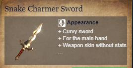 Runes Of Magic::Items : Snake Charmer Sword