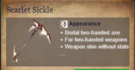 Runes Of Magic::Items : Scarlet Sickle