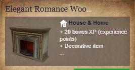 Runes Of Magic::Items : Elegant Romance Wooden Fireplace