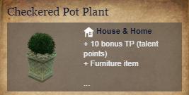 Runes Of Magic::Items : Checkered Pot Plant*2
