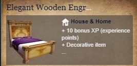Runes Of Magic::Items : Elegant Wooden Engraved Bed*2