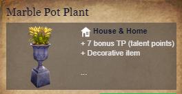 Runes Of Magic::Items : Marble Pot Plant*2